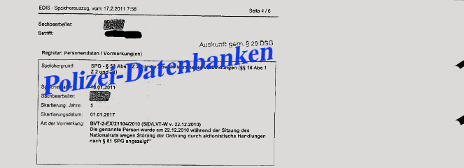 Polizei-Datenbanken in Österreich